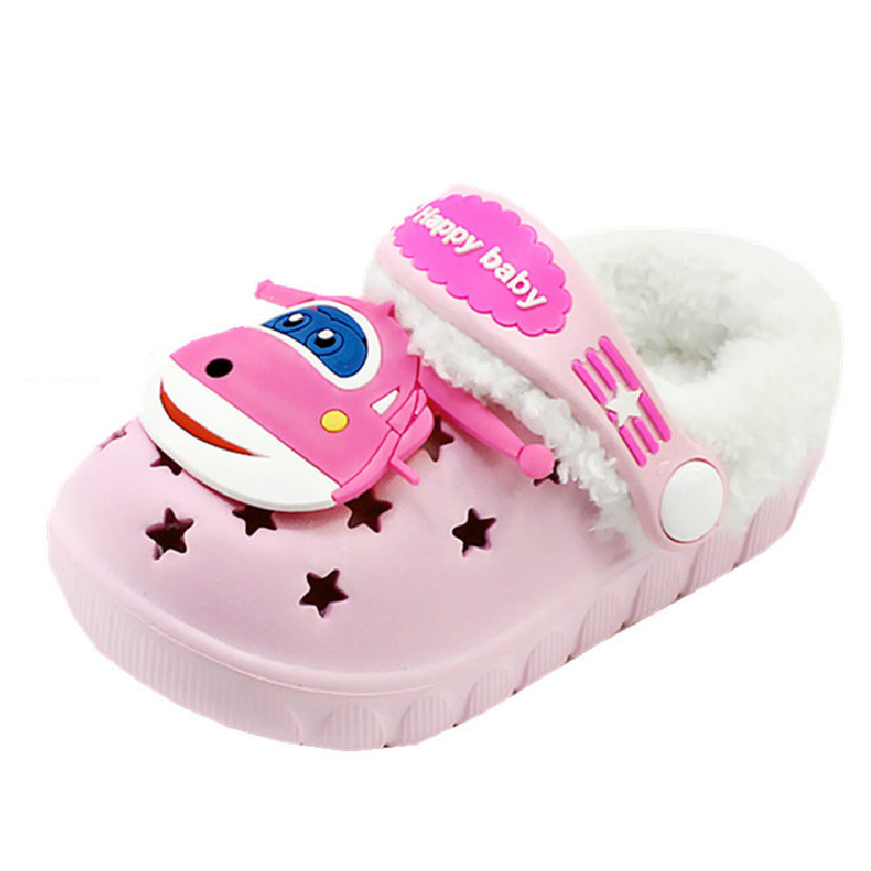 Winter Summer Sandals Kids Crocs Shoes Comfortable Barefoot Shoes Outdoor Toddler Slippers Cartoon Girls Boys Garden Shoes
