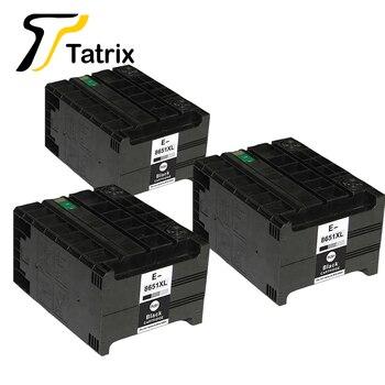Татрикс 3 шт полные Чернила совместимые для Epson T8651 T8651XL для Epson WorkForce Pro WF-M5190DW, WF-M5190DW BAM, WF-M5690DWF WF-M5690