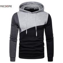 Miicoopie 2019 Mens Hoodies New Arrival Patchwork Pullover Hoodie Sweatshirt Streetwear