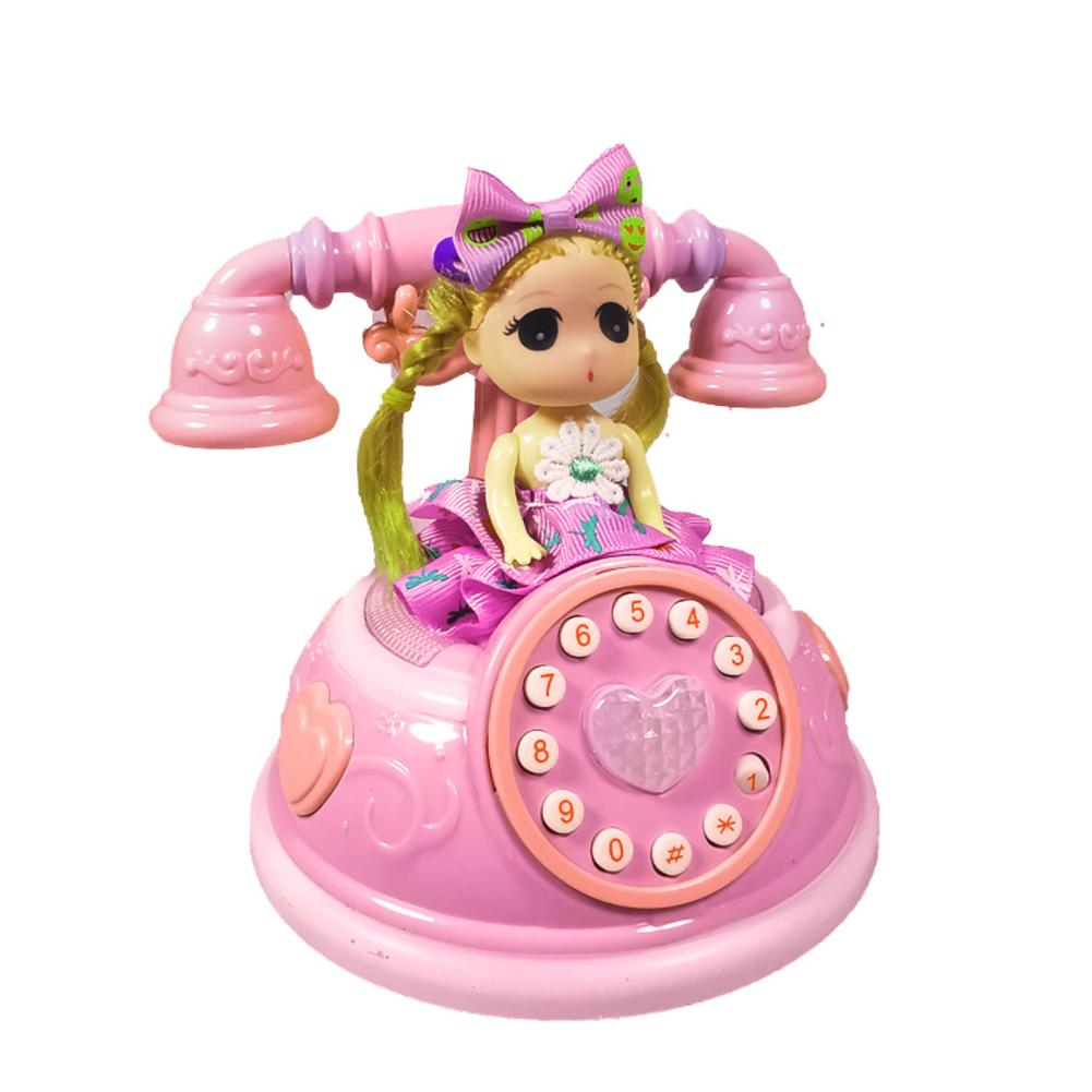 Kids Telephone Toy Early Education Girls Vintage Phone Toy For Children Kids Early Education Developmental Gift With Music