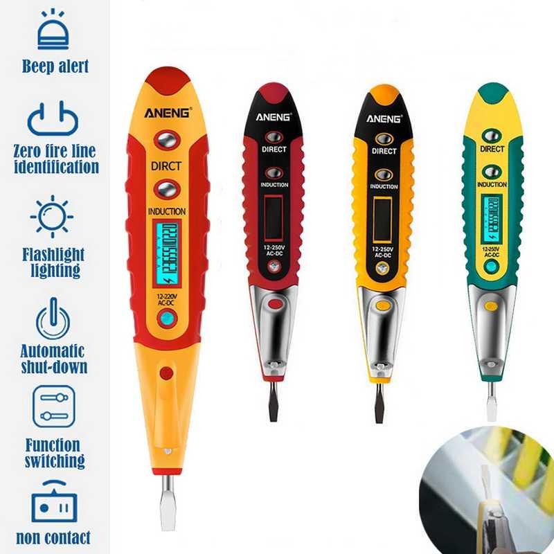 Digital Voltage Tester Test Pencil Non-Contact Electric Pen Electrician Tool