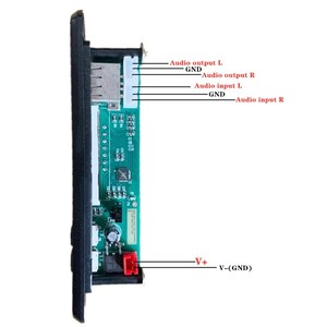 Image 5 - ARuiMei color screen 12V MP3 WMA Wireless Bluetooth 5.0 Decoder Board Audio Module USB FM TF Radio AUX input no Amplifier