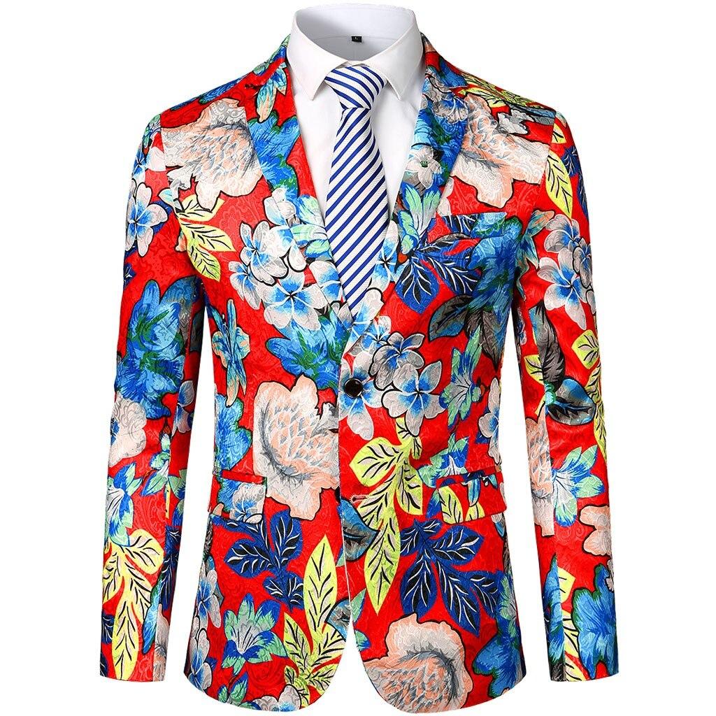 KLV Men Suit Jacket платье пиджак Men's Dress Floral Suit Notched Lapel Slim Fit Stylish Blazer Coat Jacket Free Shipping D4