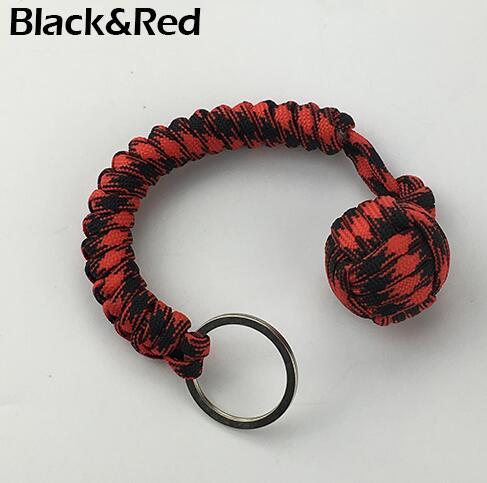 Наружная защита безопасности черная обезьяна кулак стальной шарик для девушки подшипник самообороны ремешок брелок для выживания разбитые окна - Цвет: Серый