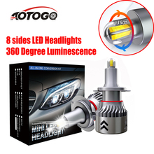 H7 LED Car Headlight Bulbs 8-Sides Headlights CSP 19600LM Super bright 360 Degree Luminescence lights for Toyota Ford 2 pcs