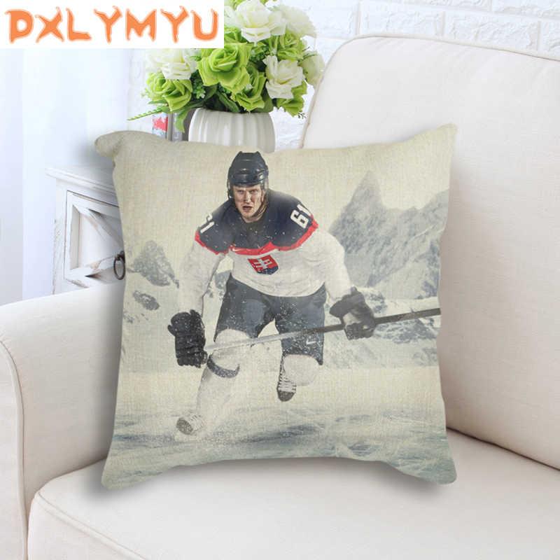 الحديثة NHL الرياضة صورة غطاء الوسادة هوكي الجليد المشارك وسادة غطاء أريكة وسائد زخرفية ل أريكة سادات 45x45 سنتيمتر