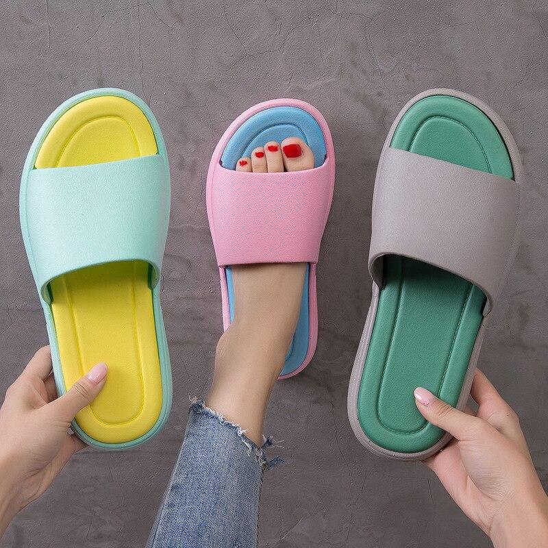 Тапочки в японском стиле; Женские летние домашние Тапочки для ванной с толстой нескользящей мягкой подошвой; Мужские домашние тапочки|Тапочки|   | АлиЭкспресс