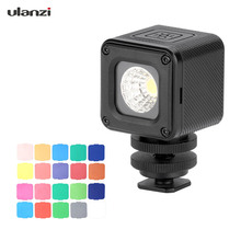 Ulanzi L1 Pro Универсальный Водонепроницаемый мини светодиодный видео светильник 5500K принудительная светильник 20 Цвет фильтры для GoPro 7/6/5 для DJI Osmo карман