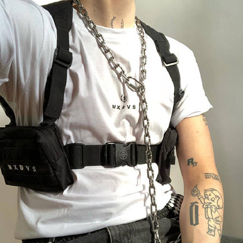 Men and women ins dark wearable vest bag military style multifunctional chest bag fashion tactical backpack Hip-Hop