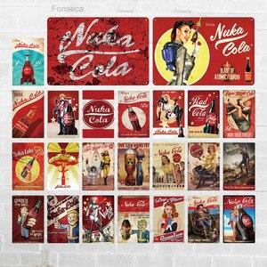 Nuka Cola Metalen Teken Vintage Tin Teken Plaquette Metalen Vintage Pub Retro Wall Decor Voor Bar Pub Club Man Cave metalen Posters