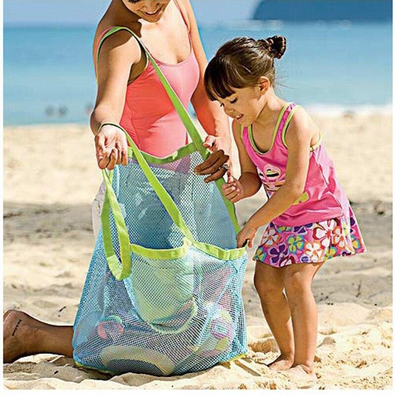 Детские игрушки, пляжная сумка, большая сетка, сумки для хранения, игрушка, пляжный песок, инструмент для дноуглубления, сумка для хранения, ...