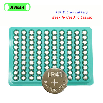 200pcs/lot Button Battery Alkaline 1.55V G3 AG3 LR41 LR736 V3GA SR41 192 384 392 EE6237