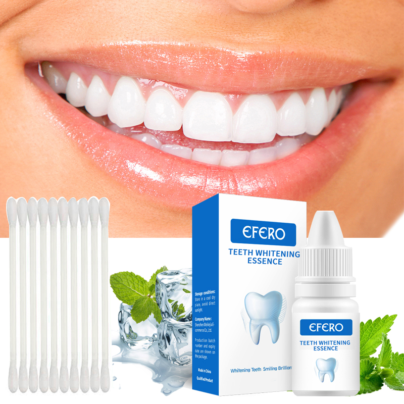 EFERO Effective Teeth Whitening Essence White Teeth Dental Oral Hygiene Removes Plaque Stains Tooth Bleaching Cleaning Serum