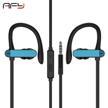 New AFY Earphone Headphones Heavy Bass Ear Hook Headset High Quality Good Sound Music Earbuds for Phones and Sport цена