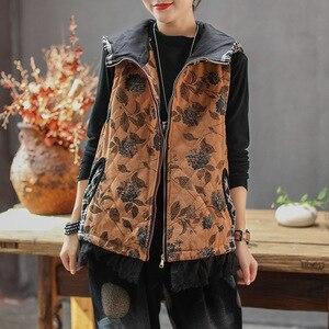 Image 5 - Max LuLu 2020 Luxuryผู้หญิงเกาหลีCorduroyฤดูหนาวเสื้อผ้าสตรีดอกไม้Hoodedเสื้อกั๊กเสื้อแขนกุดเสื้อกั๊กพลัสขนาด