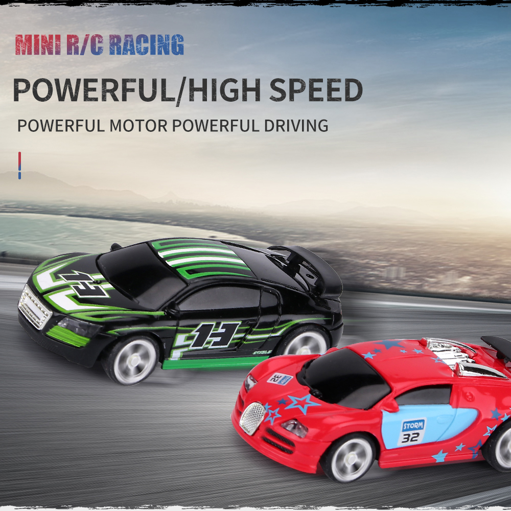 2.4G Multiplayer 1/58 Mini RC Racing Cars APP Control Chargable Many Friend Play Together Remote Control Cola Can Toys for Boys