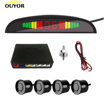 Smart Parktronic For Cars LED Display Detector System Backlight Reverse Auto Parking Radar Monitor Parking Sensor With 4 Sensors 1