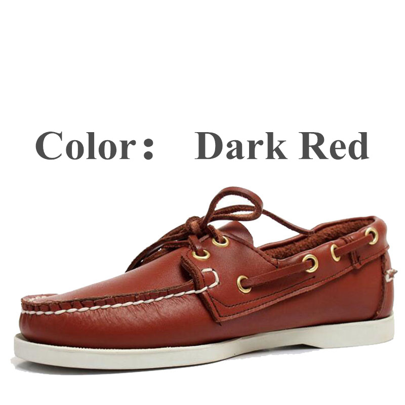 Mens Casual Genuine Suede Leather Docksides Classic Boat Shoes Loafers Shoes Unisex Handmade Shoes Driving Shoes