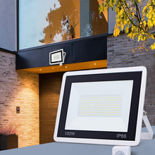 Floodlight Lamps Motion-Sensor Wall Led Pir Black White Outdoors Waterproof 220V 100W