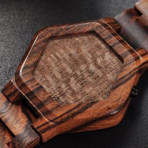 Image 5 - BOBO BIRD montre numérique pour hommes, Vision nocturne, en bambou, Mini montre de luxe, montres LED, affichage Unique, cadeaux