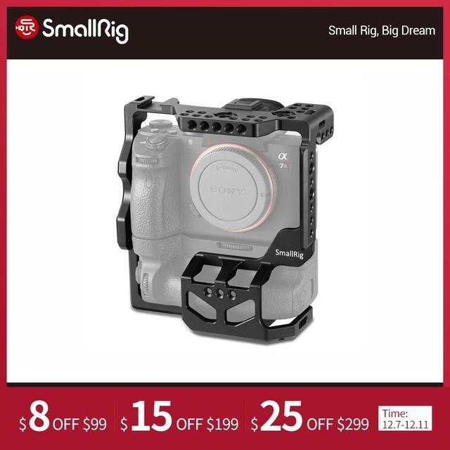Smallrig A7riii A7iii A7m3 Camera Lồng Bảo Vệ Cho Sony A7RIII A7III A7M3 Với VG C3EM Dọc Kẹp Pin Máy Ảnh DSLR Lồng 2176
