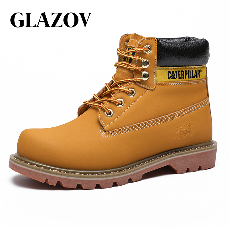 2019 Autumn NEW Men Boots Big Size 38-45 Vintage Brogue College Style Men Shoes Casual Fashion Lace-up High Boots For Man Brown