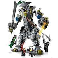 Kompatybilny lepining Ninjagoes seria mistrzów Spinjitzu Oni Titan model klocków budowlanych zestawy cegieł klasyczne zabawki dla dzieci prezent