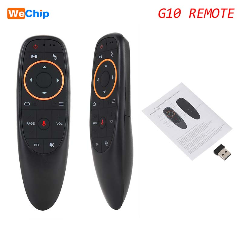 G10 2.4GHz wireless air mouse gyroscope voice remote control USB receiver ^P
