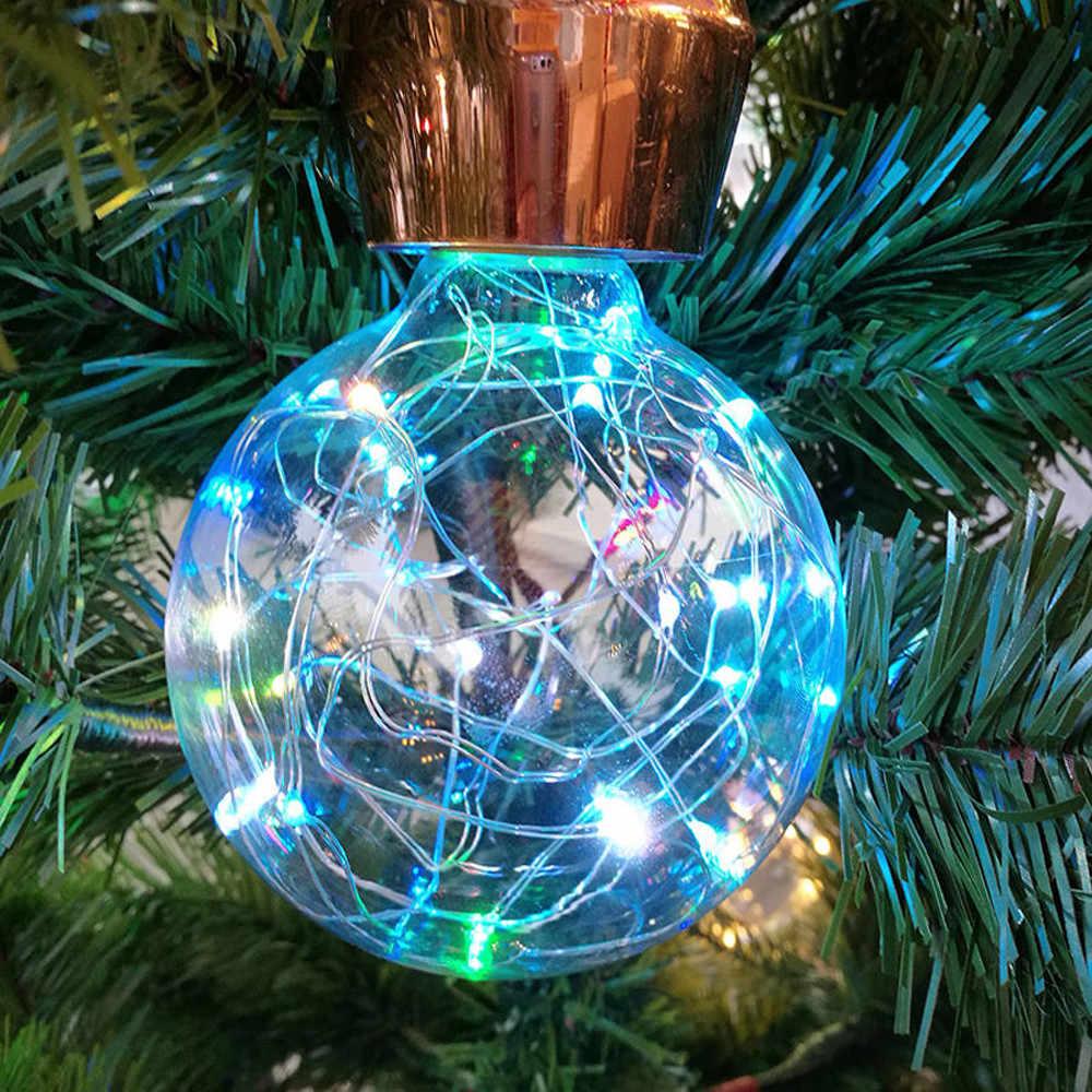 انه جذابة خمر LED خيوط مصابيح كريسماس LED لمبة E27 مليء بالنجوم الجنية سلسلة عيد الميلاد حزب المصباح الكهربي المنزل ديكور