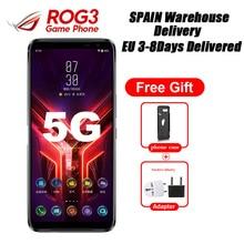 """هاتف Asus ROG جديد تمامًا 3 ZS661KS 5G للألعاب 6.59 """"12GB 256GB Snapdragon865 Plus 6000mAh 64MP NFC Android10 إسبانيا التوصيل"""