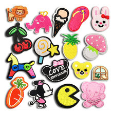 JDO Cartoon  Sweet Patch for Clothing Iron on Jacket Cute Children Baby Sticker Clothes Sewing Applique Embroidery Handmade DIY