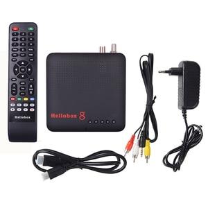 Image 5 - 1pc Hellobox 8 לווין מקלט DVB T2 DVBS2 משולבת טלוויזיה תיבת Twin טיונר תמיכת טלוויזיה לשחק על טלפון סט למעלה תיבת לווין finder