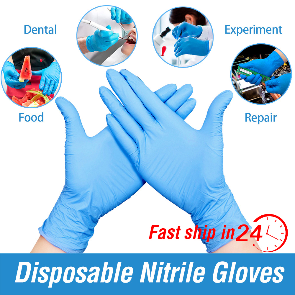 100PCS Disposable Gloves Latex XL Size Nitrile Gloves For Home Dishwashing/Kitchen/ /Work/Rubber/Garden/Tattoo/Food Gloves