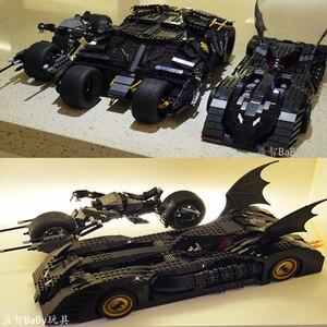 Image 1 - DC Batman Serie Super heroes 7116 Brickheadz Il Bicchiere Bat Mobile Compatibile 7784 Technic Auto Blocchi di Costruzione Giocattoli Regali