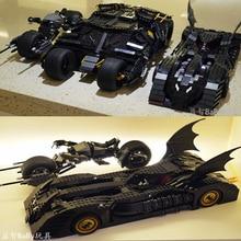 DC Batman Serie Super heroes 7116 Brickheadz The Tumbler Bat Mobile Compatible 7784 Technic Car Building Blocks Toys Gifts