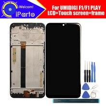 Tela lcd 6.3 polegadas umidigi f1, + digitalizador touch screen + montagem da moldura 100%, lcd + digitalizador de toque original para jogo umidigi f1