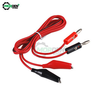 1Pair 1M Double Red and Black Banana plug Clips Crocodile Cable Alligator Jumper Wire Test Leads image