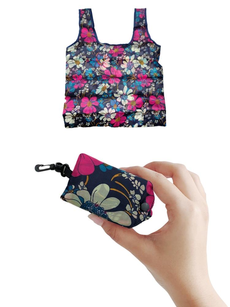 Etya Foldable Bag Handbags Tote-Bag Flower-Printing Recycle Organization Fashion Women