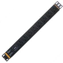 PDU 19 Zoll netzwerk schrank power verteilung 10A 250V 8 universelle buchse blitzschutz surge engineering buchse schrank