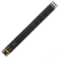 PDU 19 pouces réseau armoire distribution dénergie 10A 250V 8 prise universelle protection contre la foudre surtension ingénierie armoire prise