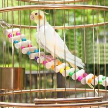 4 Patterns Bird Toy Large Wooden Drawbridge Toys for Parrot Cockatiel Cage Accessories