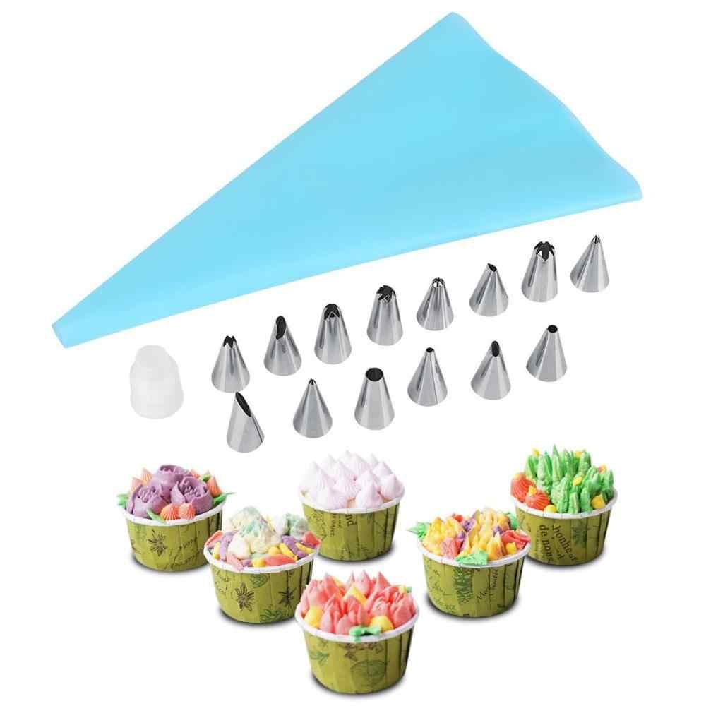 16Pcs Kuchen Dekorieren Düsen Tipps Pastry Cupcake Sugarcraft & Zuckerglasur-friedliche Bag Küche Backen Zubehör