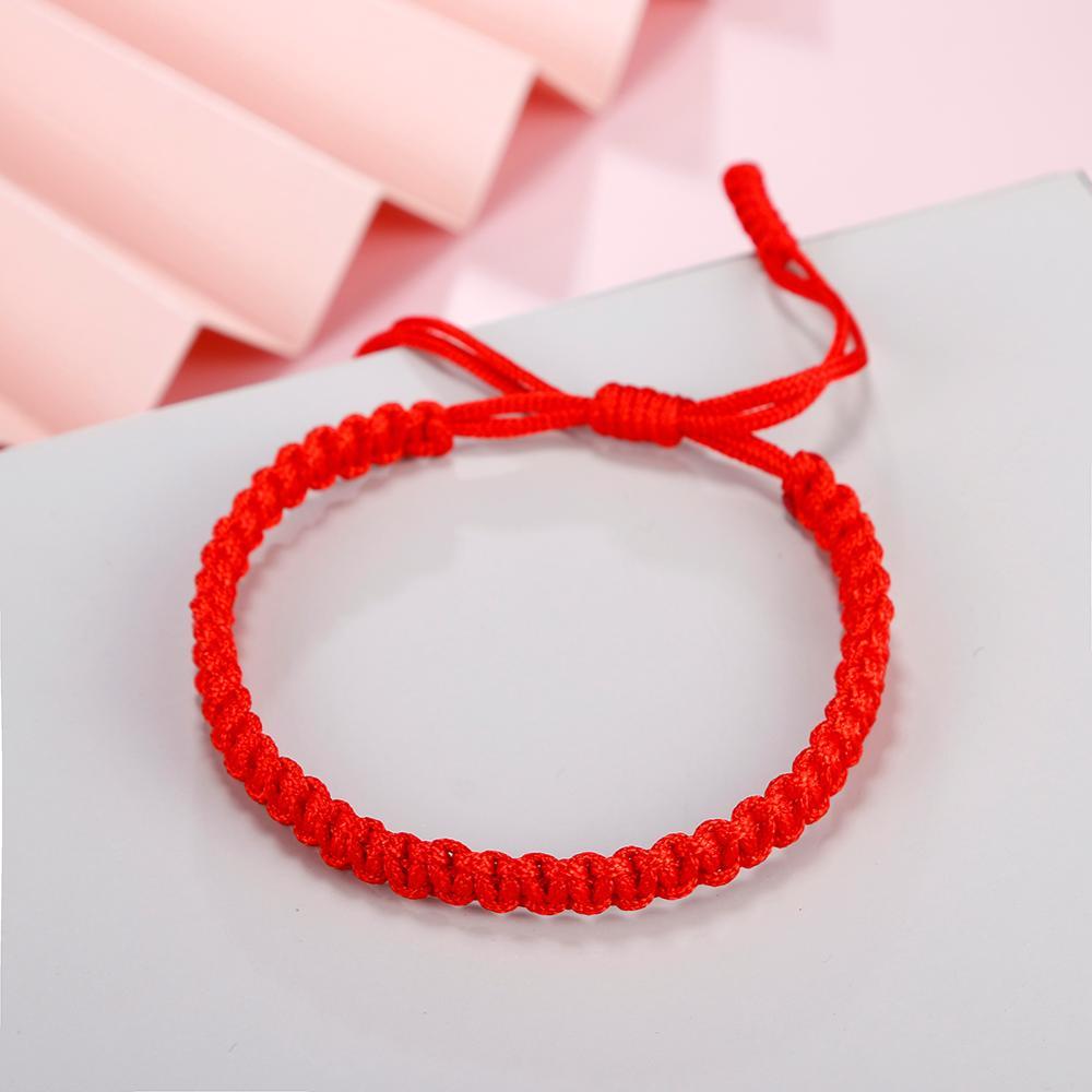 Couples Distance Charms Bracelet Red String Thread Braided Rope Lucky Bangles Handmade Tibetan Buddhist Women Men Bracelets