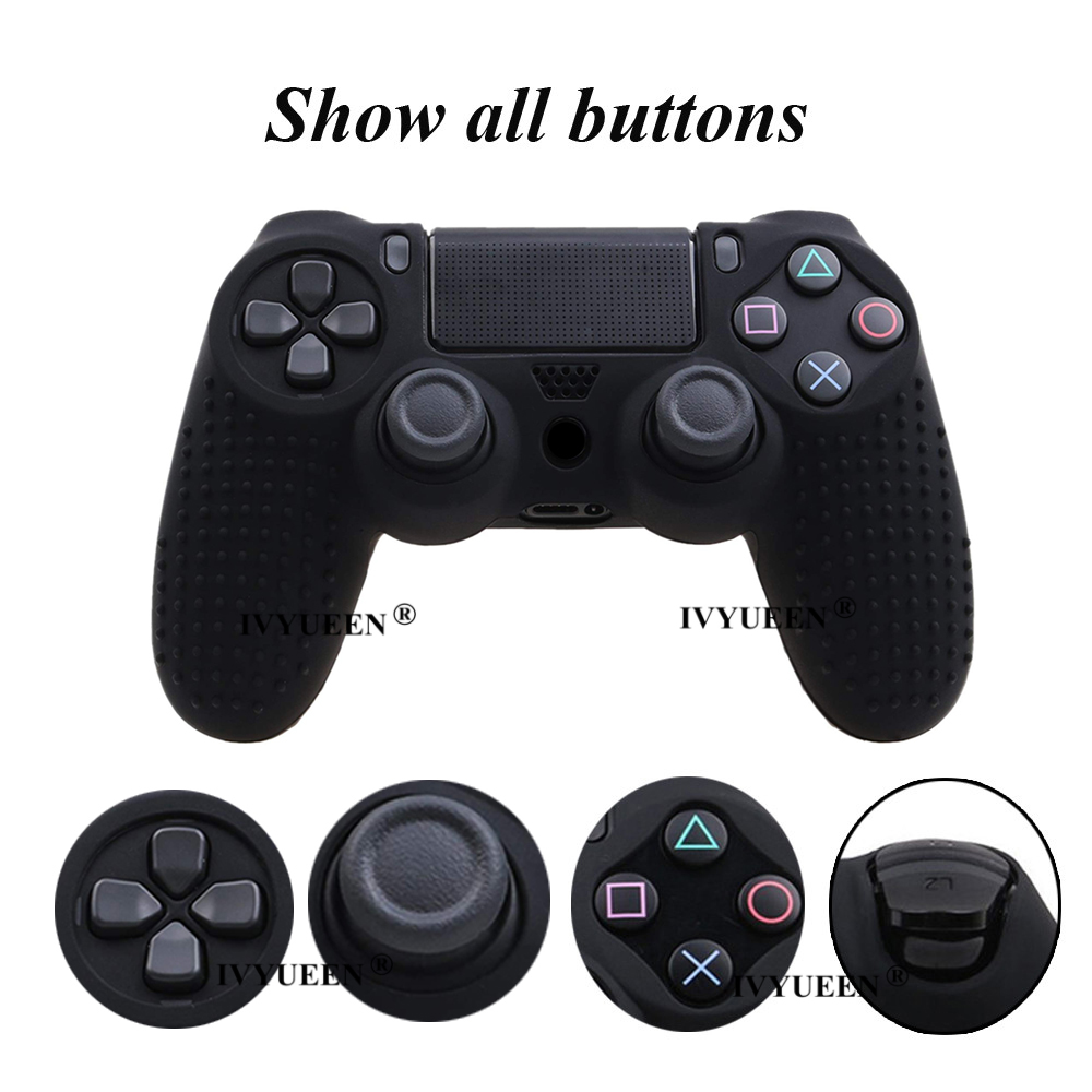for Sony PlayStation dualshock 4 ps4 pro slim controller silicone case skin 32