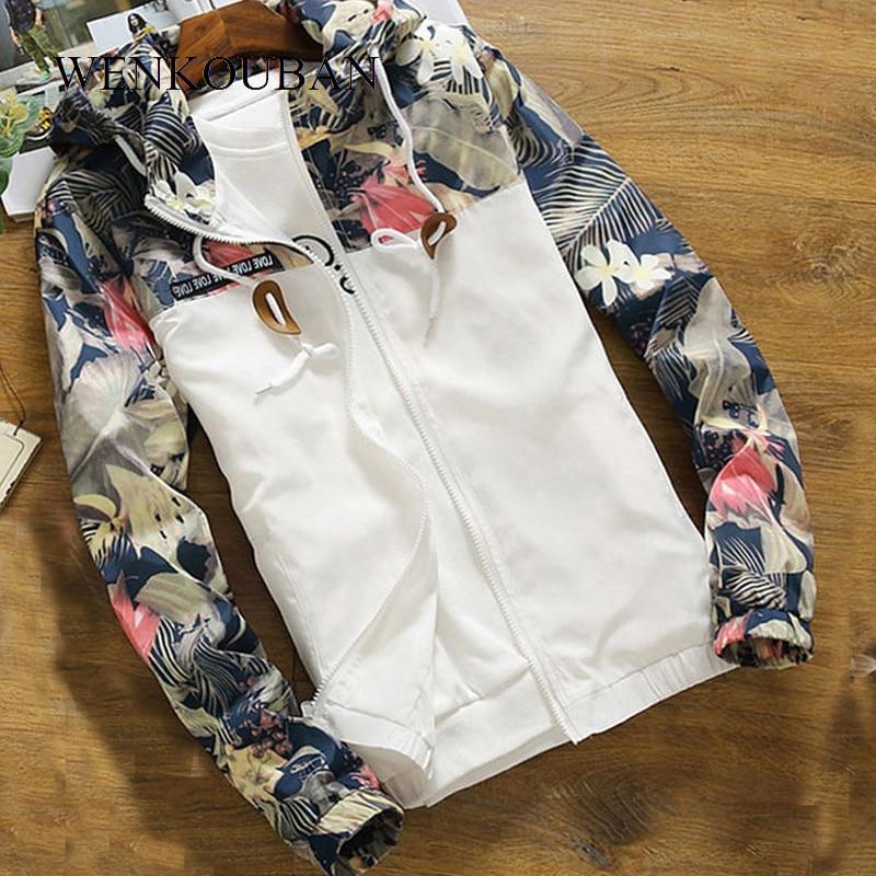 Women   Jacket   Autumn Hooded Windbreaker Ladies Causal Zipper Hooded   Basic     Jacket   Female Loose Coat Plus Size Jaqueta Feminina