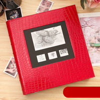 New Photo Album Leather Cover 6 Inch Plastic 6 Inch 600 Pockets Leather Family Children Baby Growth Insert Album Perfect Binding