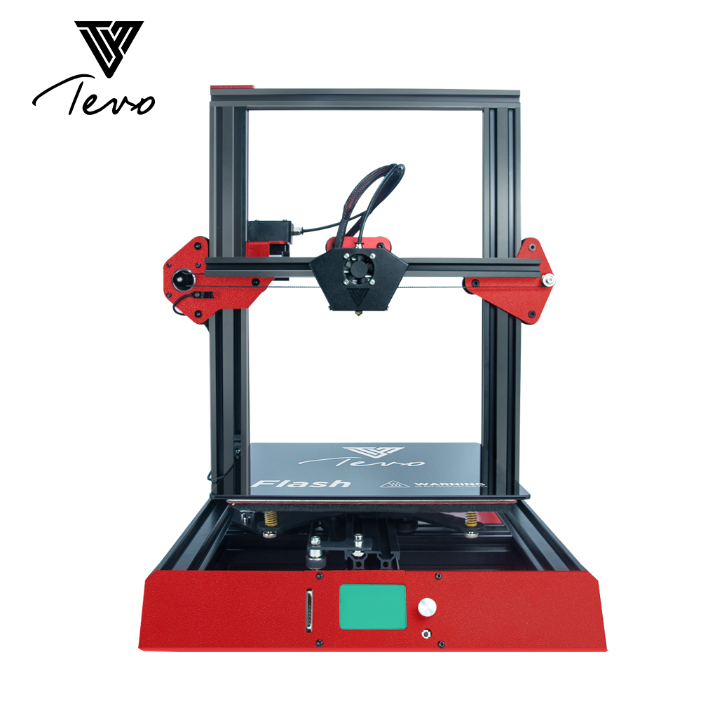 2019New Arrival Tevo Flash 3D Printer Kit 50% Prebuild Large Printing Size Machine for Multi 3D Printing Filament ABS PLA 1.75mm