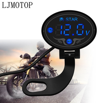 Motorcycle Voltmeter Tester Led Display Voltage Meter For BMW C400GT C600 C650 C650GT Sport F650GS F700GS F800R Accessories image