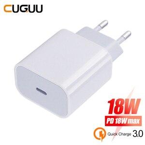 18 Вт Тип C QC & PD 3,0 USB зарядное устройство для iPhone 11 Pro XS Max 8 Plus XR быстрое зарядное устройство для iPhone type-C Быстрая зарядка настенное зарядное устр...