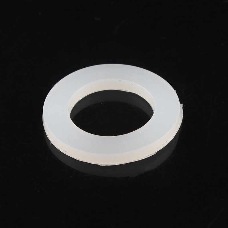 """10 pc/6/8/12/15/20/25/32/40/50mm sello de silicona junta de blanco espaciador engrosada """"O"""" Sello de anillo arandela agua sello ducha sello"""